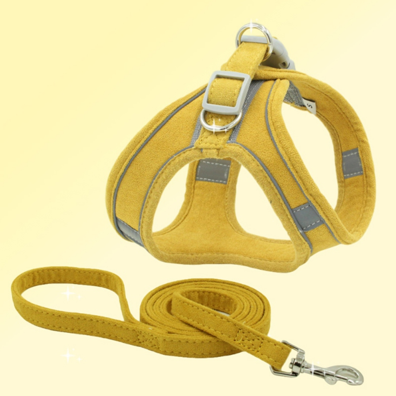 panDaDa Personalized Dog Harness With Leash Reflective Breathable Adjustable Pet Harness For Small large Dog Harness Vest 1