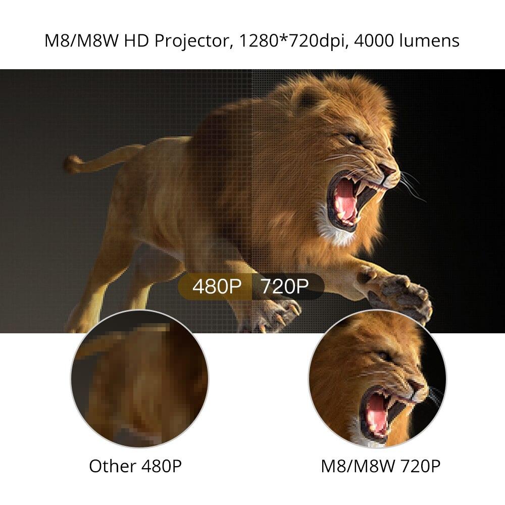 Everycom M8 mini Projetor 720P Apoio Max 1080P Beamer AC3 Áudio Android 6.0 Bluetooth Wi-fi De Vídeo LEVOU 4000 Lumens Home Theater,Este é um código de desconto 50 menos 7: DISC7-2