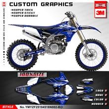 KUNGFU GRAPHICS 사용자 정의 스티커 MX Decal Kit for Yamaha YZ450F YZ250F YZ 250F 450F 2018 2019 2020 (스타일 번호 YMYZF25194518N002 KO)