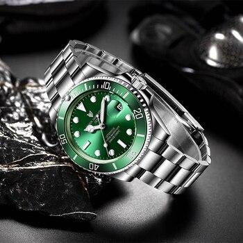 2021 LIGE New Watch Men Automatic Mechanical Tourbillon Clock Fashion Sport Diving Watch 100ATM Waterproof Luminous Watches Mens 3