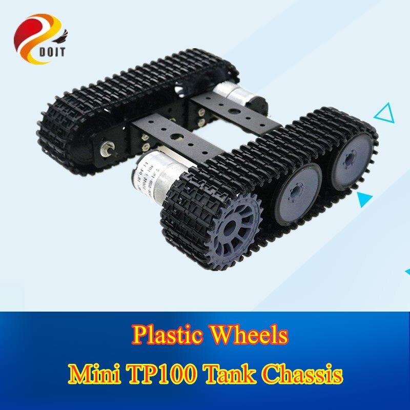 Doit mini tanque de liga alumínio tp100 robô chassi plataforma caterpillar com 12 v motor para arduino kit desmontado