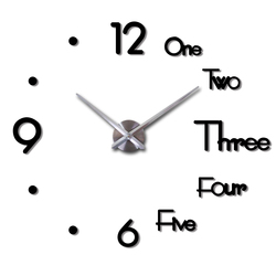 3d diy grande relógio de parede design moderno silencioso adesivo de parede relógio espelho acrílico auto adesivo relógios de parede sala estar decoração de casa