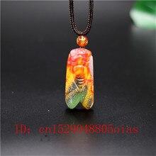 Натуральный цвет Хотан Нефритовый камень кулон Цикада ожерелье Китайский жадеит ювелирные изделия модный шарм резной амулет Подарки для женщин мужчин