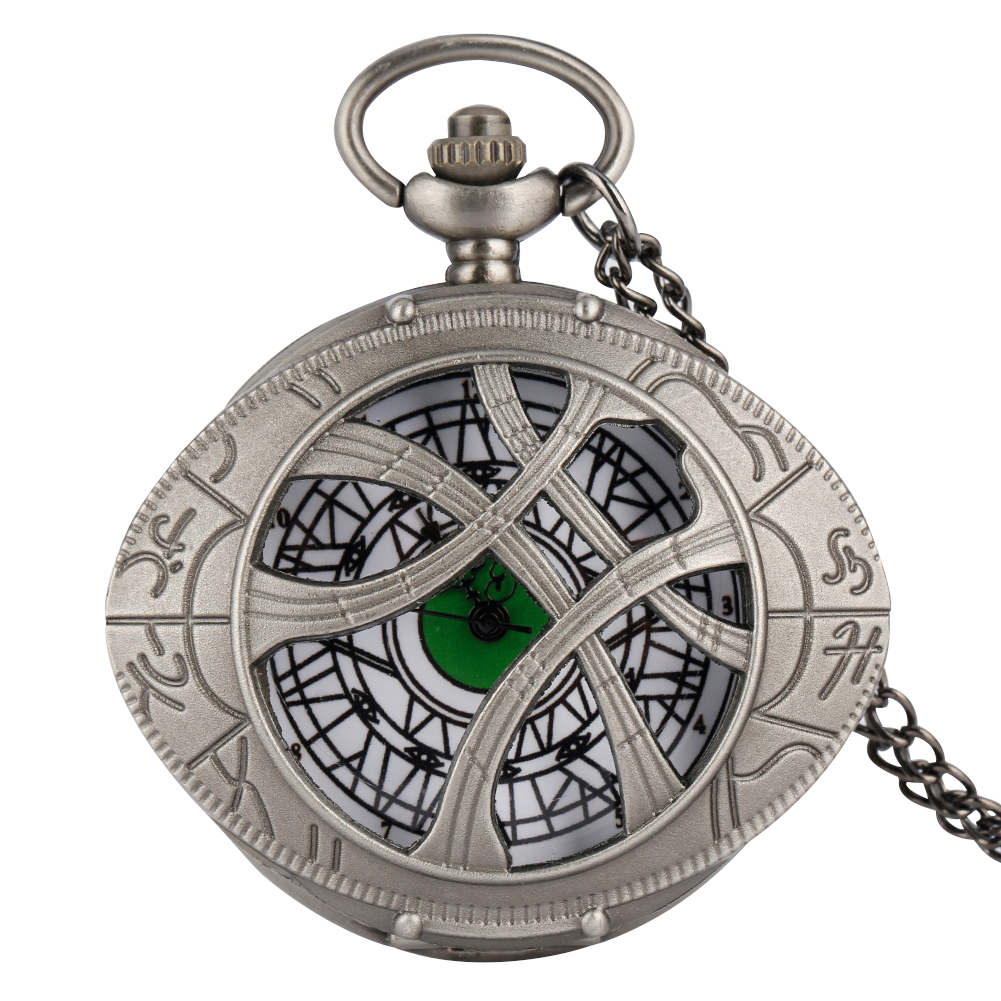 Trendy Gun Black Color Quartz Pocket Watch Men Large Dial Roman Numerals Accessory For Female Utility Slim Chain Teens Necklace