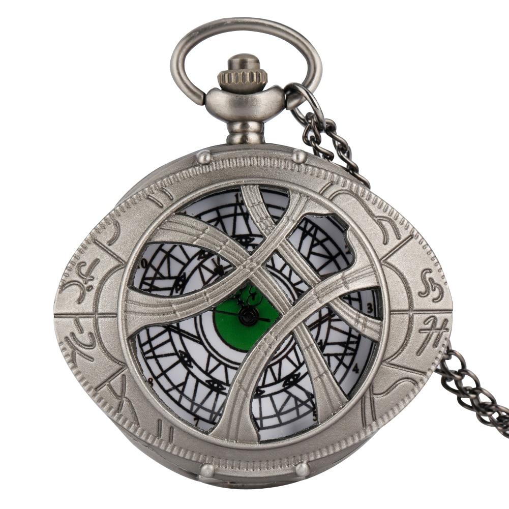 Trendy Gun Black Color Quartz Pocket Watch Men Large Dial Roman Numerals Accessory For Female Utility Slim Chain Teens Necklace