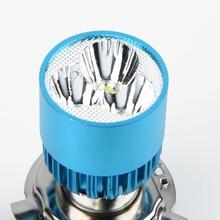 Hot Sale DC 12-85V H4 3 LED Motorcycle Headlight Bulb Hi/Lo Scooter Lamp ATV Fog Light Motorcycle Headlight