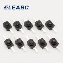 Mini interruptor de botão, interruptor de botão para tocha elétrica dc 30v 1a com 10 peças
