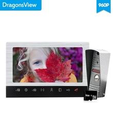 Dragonsview 10 インチのビデオインターホンドアホンとカメラ 960P のドアとモーションセンサー SD カード記録