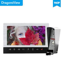Dragonsview 10 Zoll Video Intercom Tür Telefon Türklingel mit Kamera 960P Tür Entry System mit Motion sensor SD Karte rekord