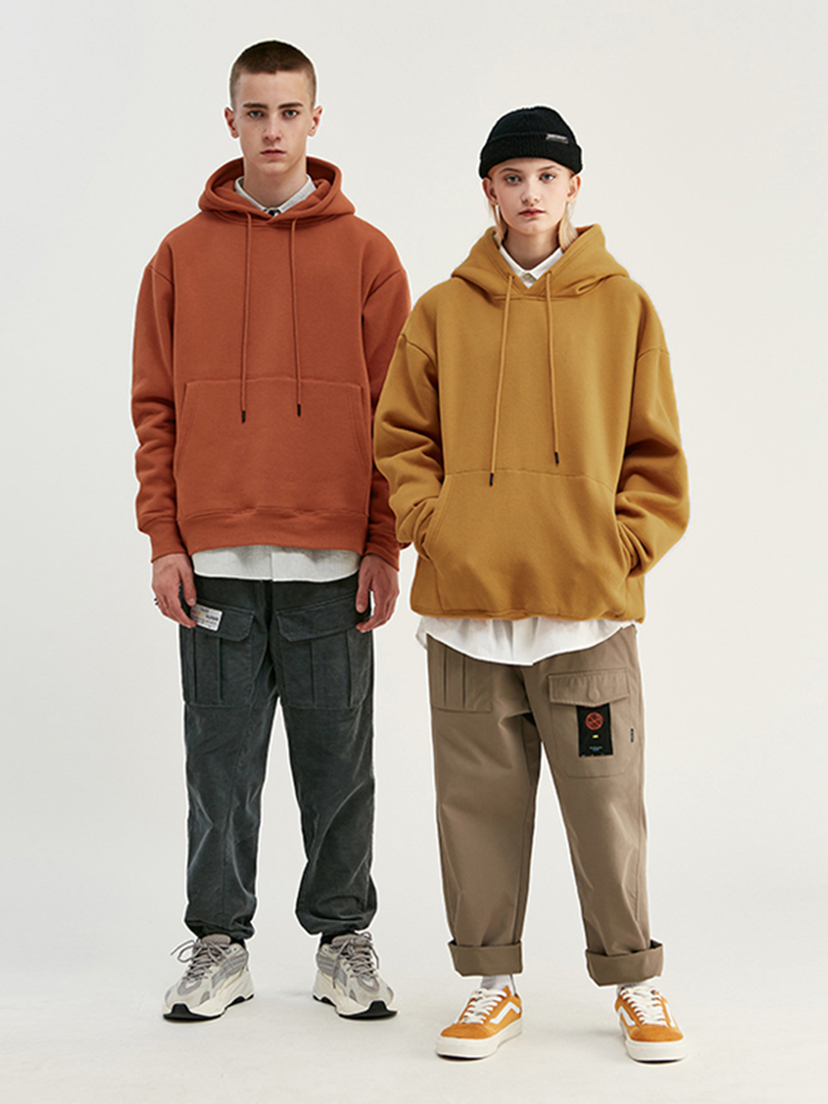 INFLATION Winter Hoodies Fabrics Velvet Fleece Hip-Hop Thick Mens 167W17