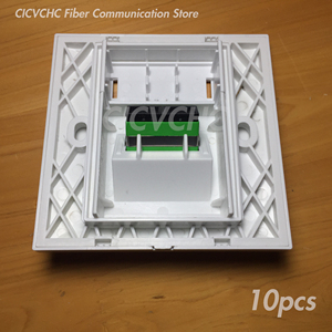 Image 5 - Panneau de 10 pièces 86x86mm pour adaptateur SC Duplex ou adaptateur Quad LC/blanc/FTTH ODN