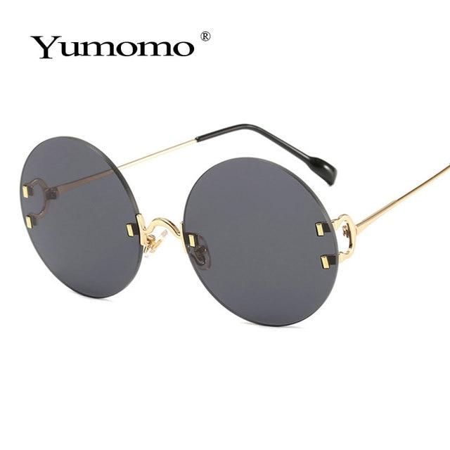 Vintage Round Sunglasses Women Ocean Color Lens Mirror Sun Glasses Female Brand Design Metal Frame Circle Glasses Modis Oculos 2
