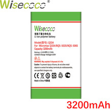 WISECOCO 3200mAh Q334 Battery For BQS 5020 BQS 5065 For Micr