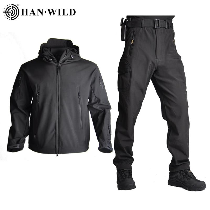 Hot DealsSoft Shell Jacket Pants Huntingclothes-Suit Military-Coats Shark-Skin TAD Army Waterproof