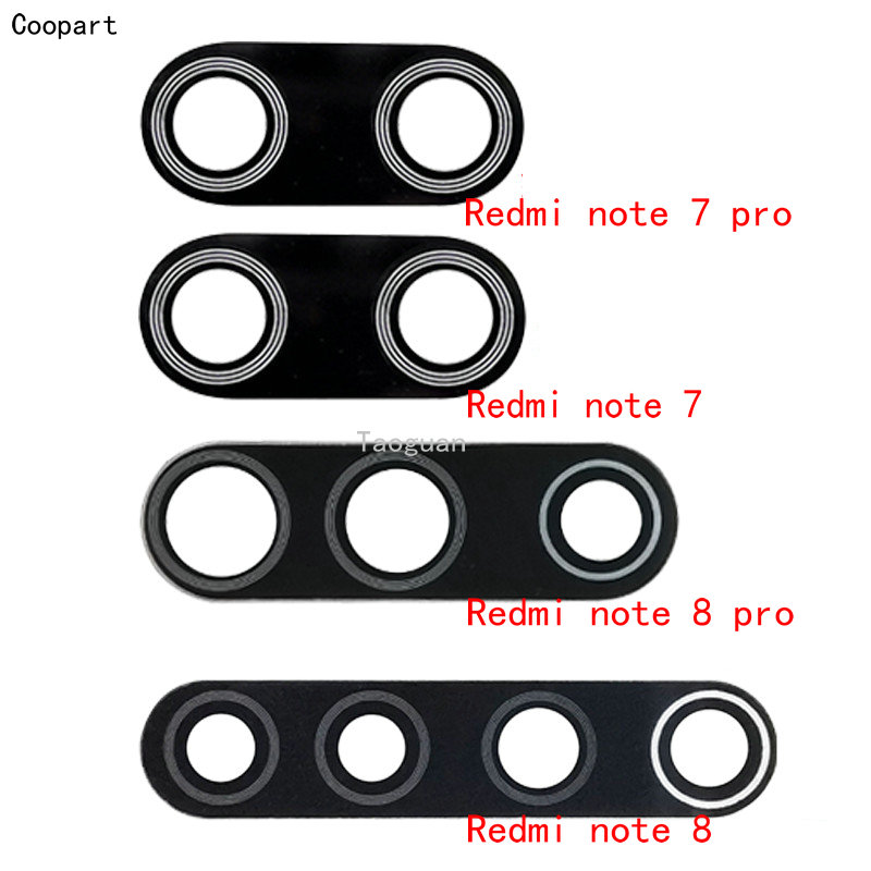2pcs/lot Coopart New Back Rear Camera Lens Glass Replacement For Xiaomi Redmi Note 7 /note 7 Pro / Note 8 /note 8 Pro
