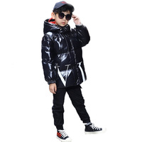 New Style CHILDREN Garment down Jacket Korean style Mid length Warm Coats Men's And Women's Child Thick Big Boy Winter Fashion