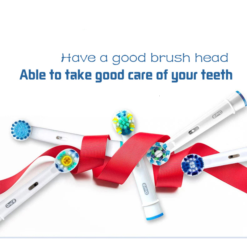 For Rotary Electric Toothbrush Oral B Electric ToothBrush Heads High Quality Replaceable Toothbrush Heads 8pcs/pack