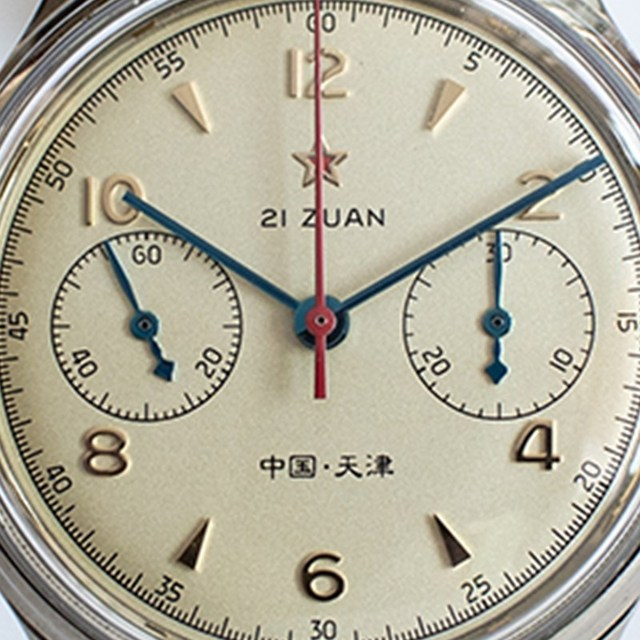 Fashion 38mm Men Chronograph Watches Sapphire Mechanical 1901 Seagull Movement Military Pilot Mens Chronograph Watch 1963 40mm 4