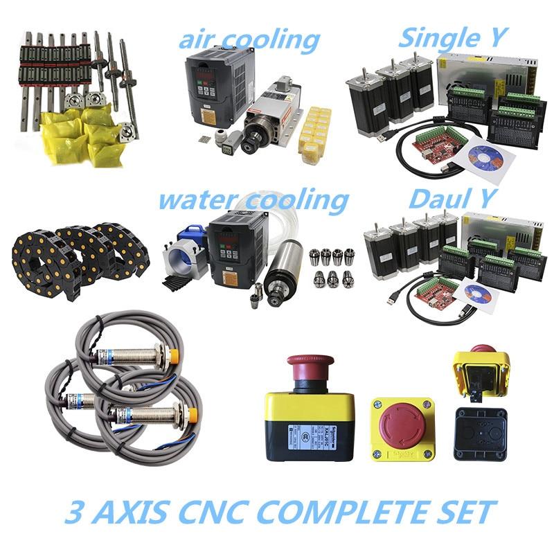 2020 Promotie 3 Aixs Cnc Complete Set Lineaire Gids Ball Schroef Stappenmotor Spindel Kabel Ketting Voor Cnc Builde