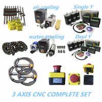 2020 Promotion 3 aixs CNC ensemble complet guide linéaire vis à billes moteur pas à pas broche câble chaîne pour CNC construire