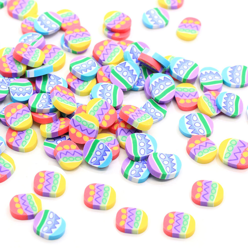 Boxi 10g Slime Additives Supplies Polymer Clay Easter Egg Sprinkles Cute DIY  Slice Topping For Cloud Clear Slime Clay In Stock