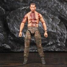 """NECA figura de acción Predator DVJ de 7 """", juguete coleccionable de batalla Final de Jungle Hunter, muñeca holgada"""