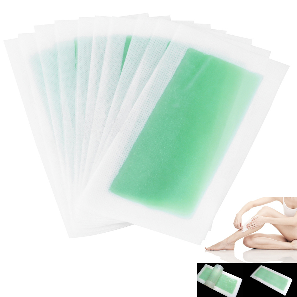 10pcs  Leg Body Hair Removal Depilatory Cold Wax Strips Beauty Female Shaving Hair Removal Papers Waxing Nonwoven