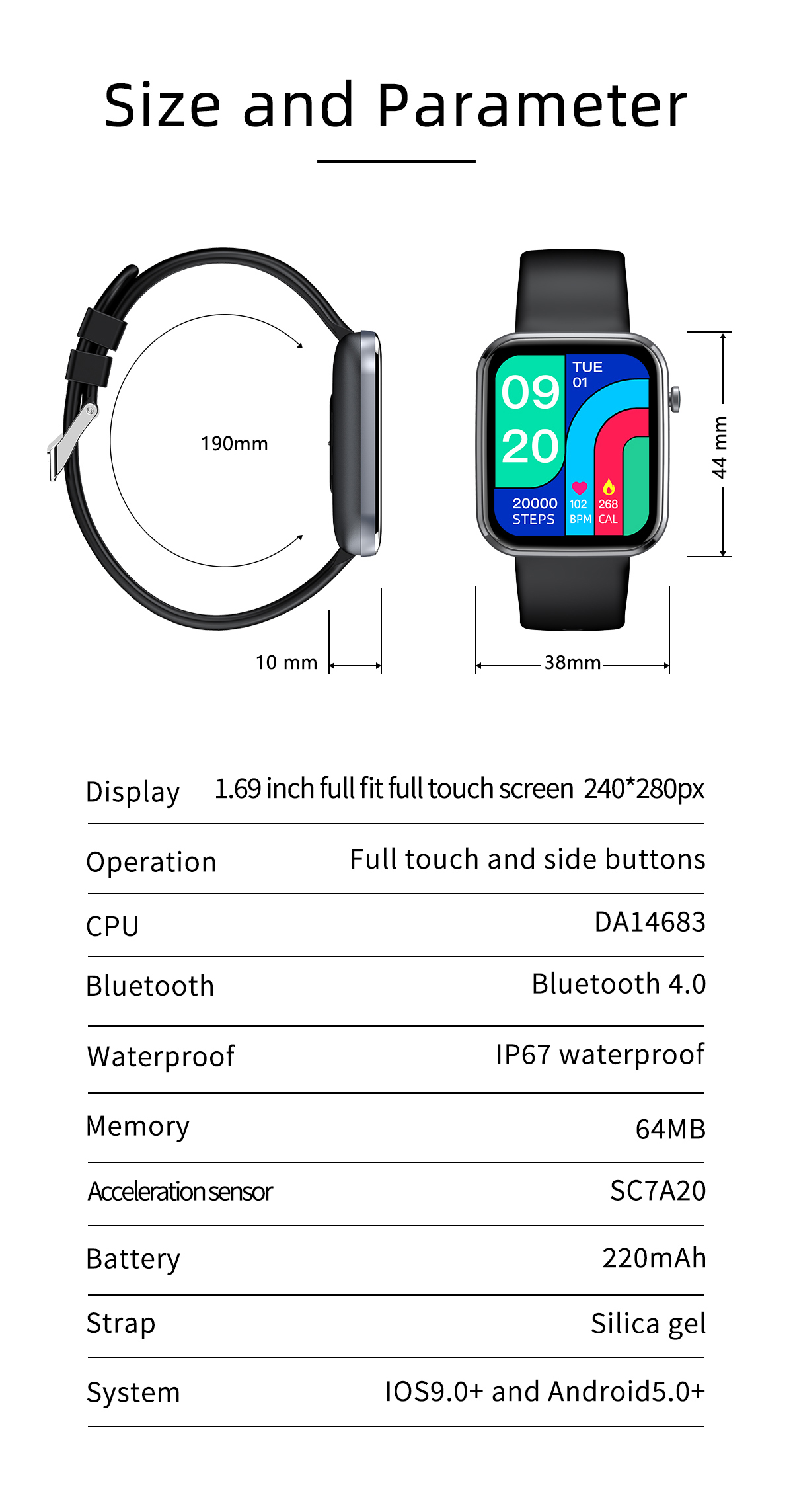 He0a3ad4fcb014a79899b69794a78a42e9 MISIRUN Z15 Smart Watch for Man Women Full Touch Blood Pressure Smart Clock Women watch Smartwatch for IOS Android Xiaomi Phone