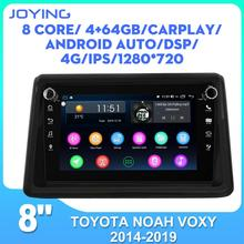 Car radio 8 inch IPS screen stereo GPS Navigation for Toyota Noah Voxy 2014-2019 one din head unit car multimedia player RDS BT cheap JOYING 50W*4W 64G 128G Android 8 1 JPEG 2G 4G Metal+ABS 1280*720 1024*600 3 5kg FM Transmitter Bluetooth Touch Screen Radio Tuner