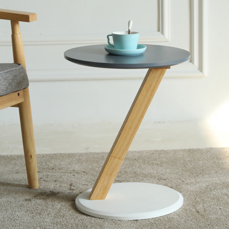 Nordic fashion round <font><b>coffee</b></font> <font><b>table</b></font> creative personality wooden Z-shaped small <font><b>coffee</b></font> <font><b>table</b></font> for Balcony living room <font><b>cafe</b></font> mx1018145 image
