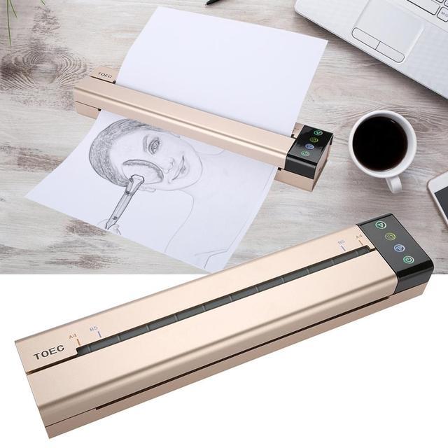 Tymczasowa maszyna transferowa do tatuażu drukarka do rysowania szablon do drukarki termicznej kopiarka do transferu tatuażu drukarka do kopiarki papierowej wtyczka amerykańska