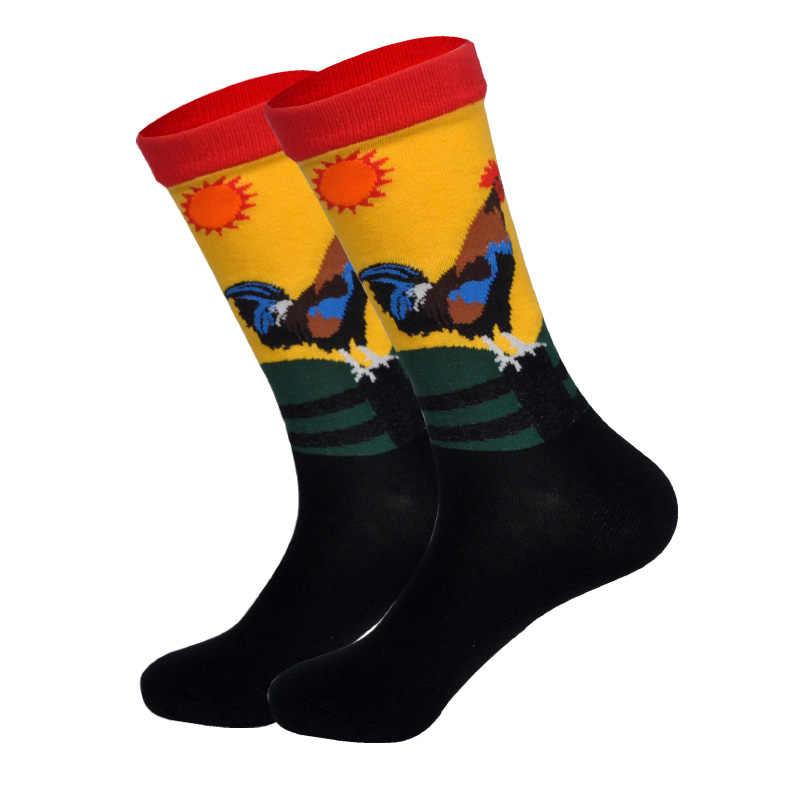 Frühling Neue Angekommene Glücklich Socken Männer Lustige Kunst Nach Britischer Street Hip Hop Tiere Zeichen Designer Crew Socke Geschenk für Männer