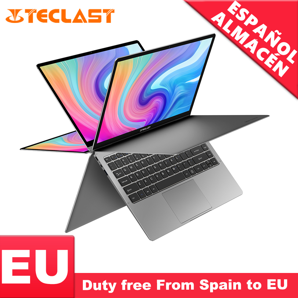 Teclast F6 Plus Laptop Intel Gemini Lake N4100 Quad Core <font><b>8GB</b></font> RAM 256GB <font><b>SSD</b></font> Windows10 360 Rotating Touch Screen 13.3