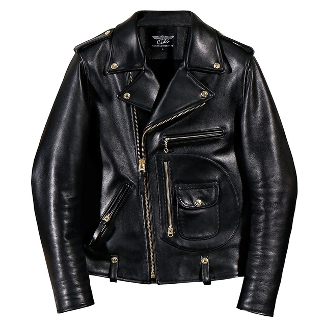 YR!Free shipping.Italy Luxury Batik cowhide clothing,motor biker style leather jackets,J24 Man vintage genuine leather coat, 1