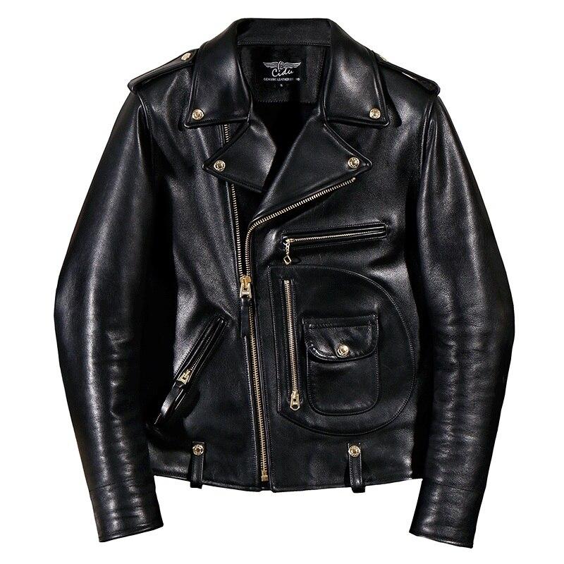 YR! freies verschiffen. italien Luxus Batik rindsleder kleidung, motor biker stil leder jacken, J24 Mann vintage echtem leder mantel,