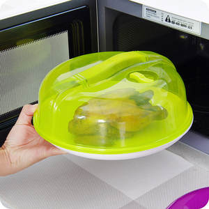Microwave Food Cover Plate Vented Splatter Protector Clear Kitchen Lid Safe Vent Plate Dustpoof Cover Kitchen Tool