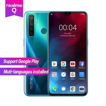 Realme Q 6.3''Full Screen R 5 pro Snapdragon 712AIE Octa Core Waterproof Super VOOC 2340×1080 5cameras 48MP Face+Fingerprint ID