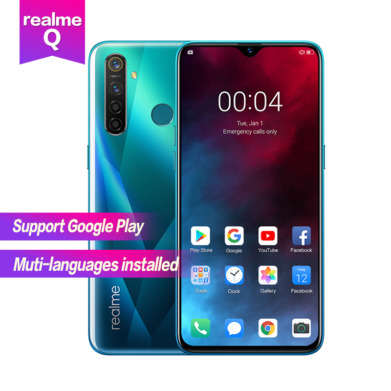 Realme Q 6.3''Full Screen R 5 Pro Snapdragon 712AIE Octa Core Waterproof Super VOOC 2340×1080 5cameras 48MP Face+Fingerprint ID