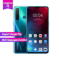 Realme Q 6.3''Full Screen Snapdragon 712AIE Octa Core Waterproof Super VOOC 4035mAh 2340×1080 5cameras 48MP Face+Fingerprint ID