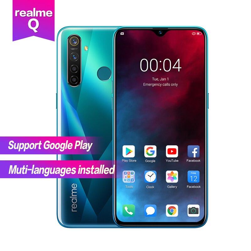 Realme Q 6.3 ''plein écran R 5 pro Snapdragon 712AIE Octa Core étanche Super VOOC 2340 × 1080 5 caméras 48MP visage + empreinte digitale ID