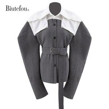 2021 New Arrival Spring Women Adjustable Waist Knitted Belt Shirt