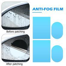 4pcs Anti Fog Car Side Mirror Window Films Anti Glare Rearview Mirror Protective Films Waterproof Rainproof Auto Stickers
