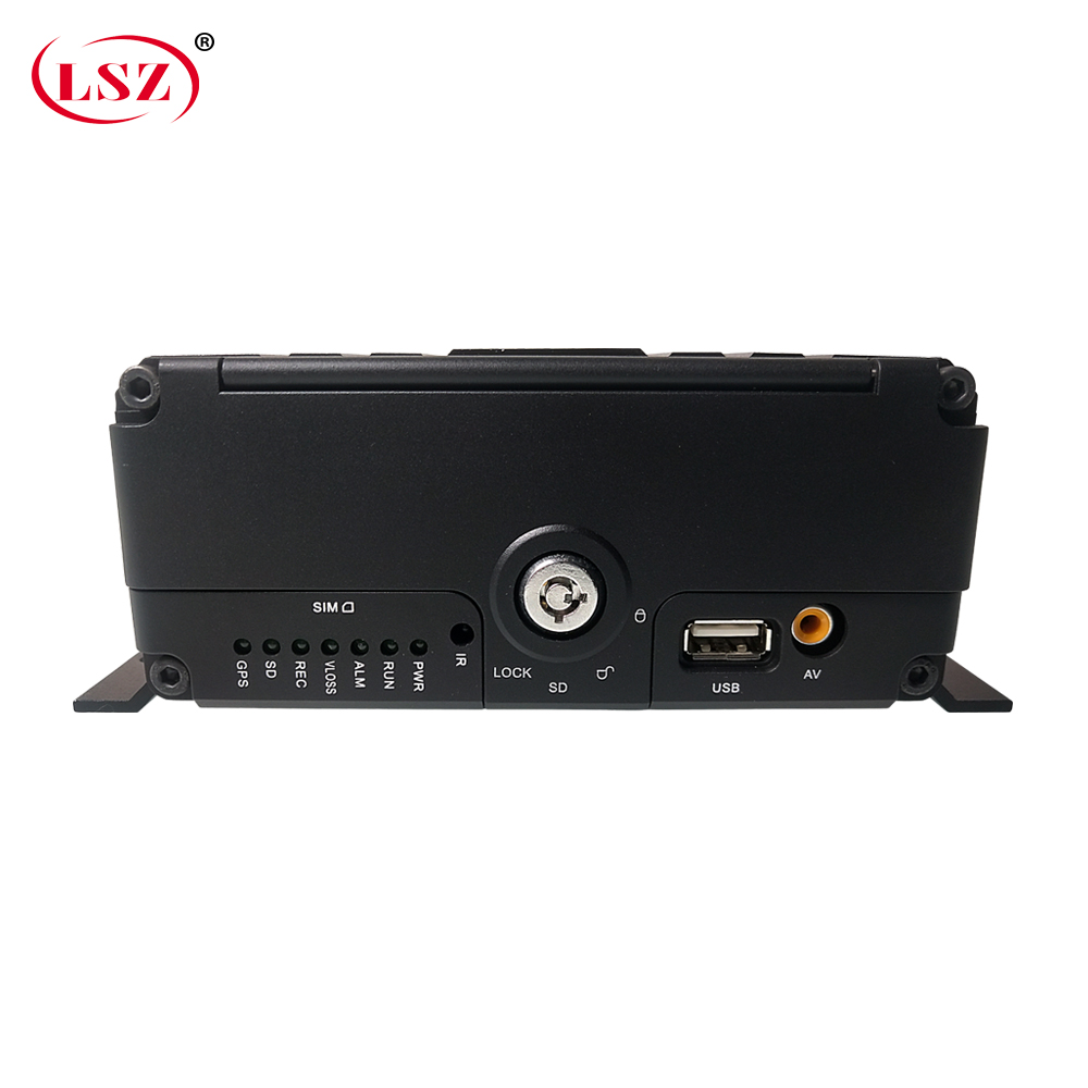 LSZ factory wholesale sd+ hard disk remote monitoring audio and video 4 channel 3g gps wifi mdvr travel car / truck / taxi / bus
