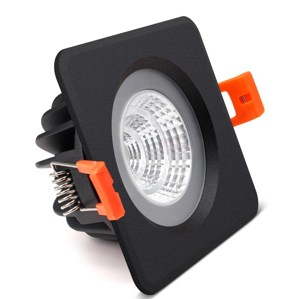 [DBF] Schwarz/Weiß IP65 Wasserdichte Einbau LED COB Downlight SMD5730 5 W 7W 12W 15W Spot Licht Bad Decke Lampe AC 110V/220V