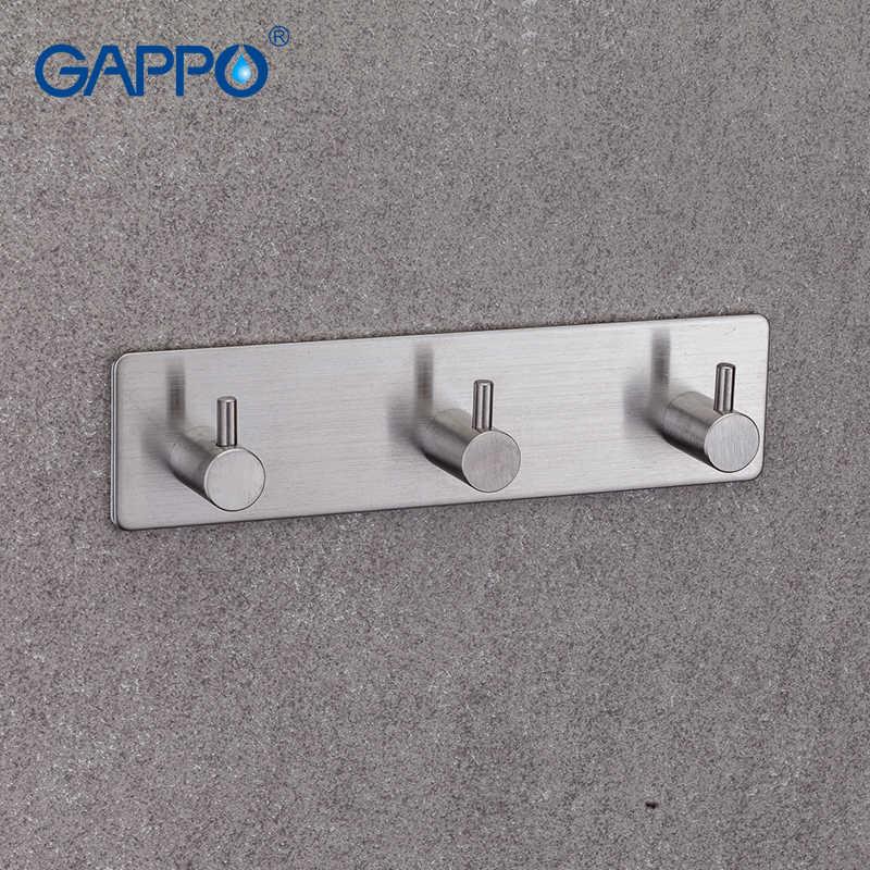 GAPPO Крючки 3 одежда крючок из нержавеющей стали крючки с настенным креплением вешалка для одежды вертикальный держатель