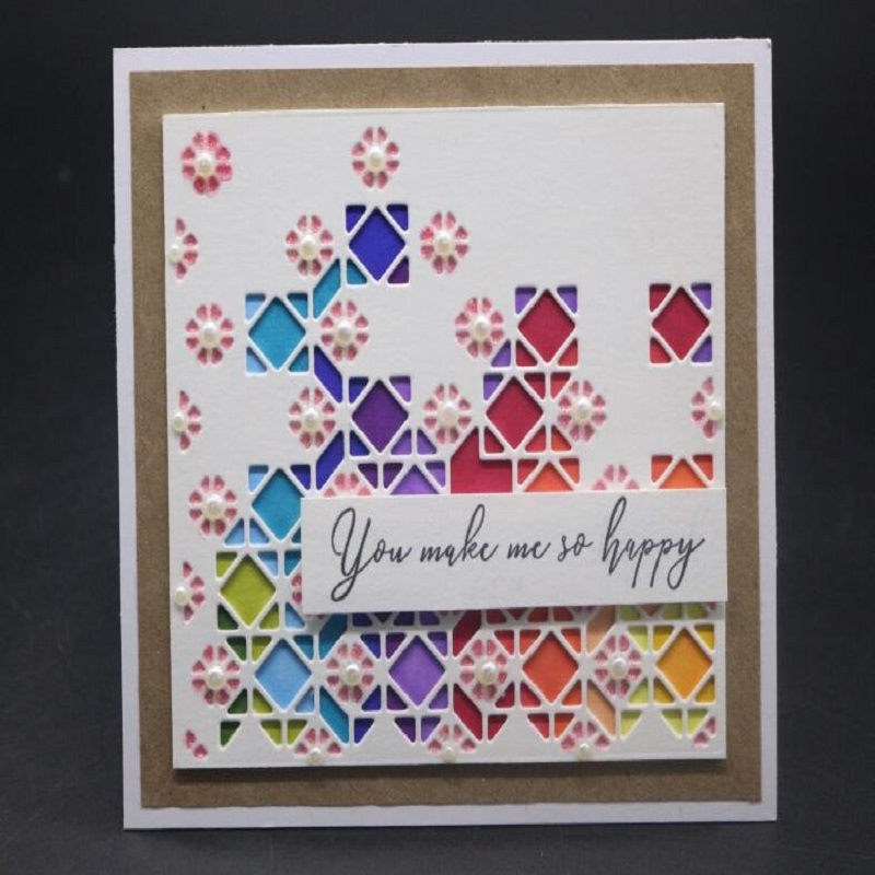 Square frame Metal DIY Cut Die Stencil Scrapbook Album Paper Card Emboss B LK