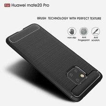 סיליקון רך מקרה Huawei Mate 20 30 לייט מקרה סיב פחמן עבור Huawei Mate 20 30 P20 P30 P40 פרו p20 P30 לייט מוברש כיסוי