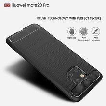 Silicone Soft Case Huawei Mate 20 30 Lite Case Carbon Fibre For Huawei Mate 20 30 P20 P30 P40 Pro P20 P30 Lite Brushed  Cover