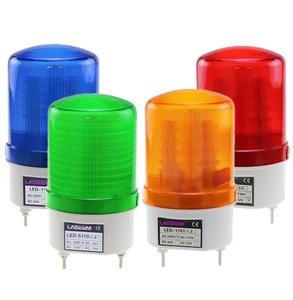 Roterende roterende LED strobe Alarm Lamp licht sirene geel blauw rood groen LED waarschuwingslampje Geen voice 12V 24V 110V 220V(China)