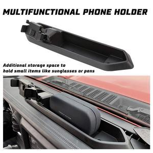 Автомобильный держатель для телефона с коробкой для хранения подходит для Jeep Wrangler JL 2018 2019 для сотовых телефонов и мини планшетов,